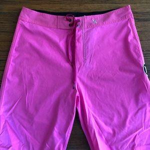 Pink Hurley Board Shorts
